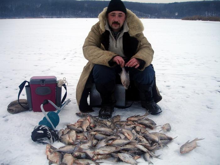 зимняя ловля леща на Белгородском водохранилище